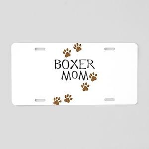 Boxer Mom Aluminum License Plate