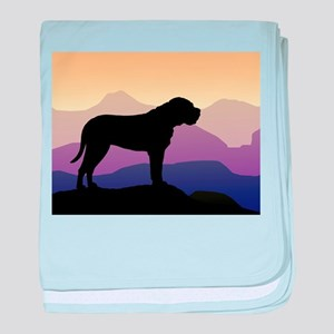 Purple Mountains Bullmastiff baby blanket