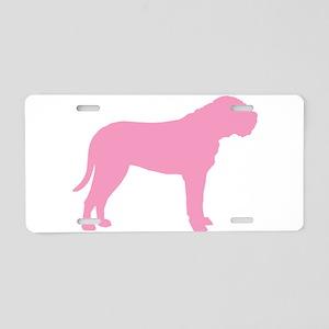 Pink Bullmastiff Aluminum License Plate