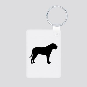 Bullmastiff Dog Breed Aluminum Photo Keychain