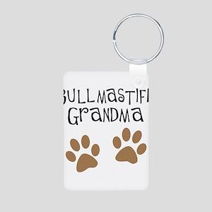 Bullmastiff Grandma Aluminum Photo Keychain
