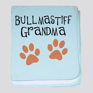 Bullmastiff Grandma baby blanket