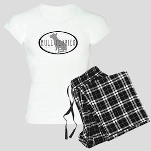 Bull Terrier Oval w/Text Women's Light Pajamas