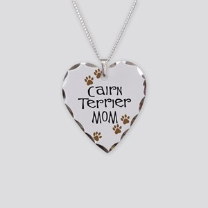 Cairn Terrier Mom Necklace Heart Charm