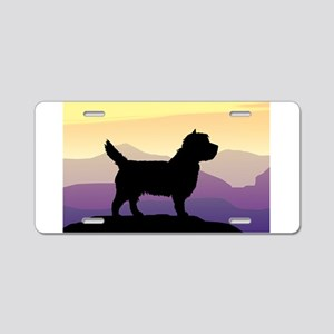 Cairn Terrier Purple Mt. Aluminum License Plate