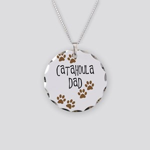 Catahoula Dad Necklace Circle Charm