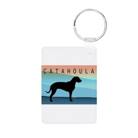 Catahoula Blue Mt. Aluminum Photo Keychain