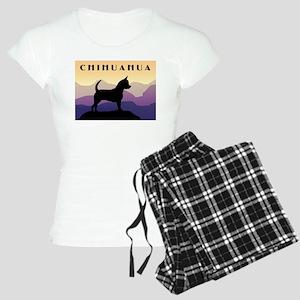 Chihuahua Purple Mountains Women's Light Pajamas