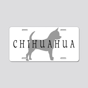 Chihuahua w/ Text Aluminum License Plate
