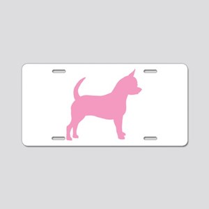 Pink Chihuahua Dog Aluminum License Plate