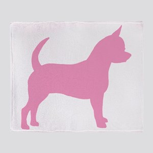 Pink Chihuahua Dog Throw Blanket