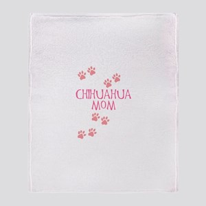 Pink Chihuahua Mom Throw Blanket