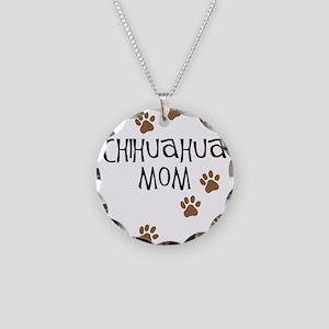 Chihuahua Mom Necklace Circle Charm