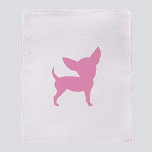 Pink Funny Cute Chihuahua Throw Blanket