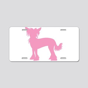 Chinese Crested Pink Aluminum License Plate