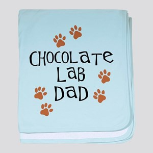 Chocolate Lab Dad baby blanket