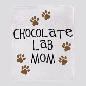 Chocolate Lab Mom Throw Blanket