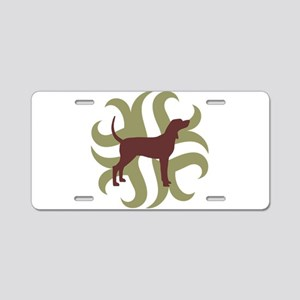 Coonhound Tribal Aluminum License Plate