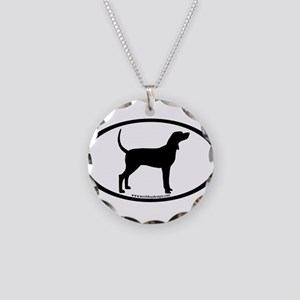 Coonhound #2 Oval Necklace Circle Charm