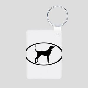 Coonhound #2 Oval Aluminum Photo Keychain