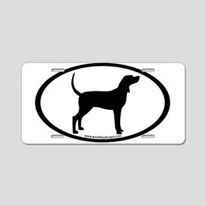 Coonhound #2 Oval Aluminum License Plate