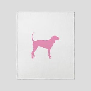 Pink Coonhound Throw Blanket