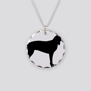 Coonhound Necklace Circle Charm