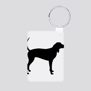 Coonhound Aluminum Photo Keychain