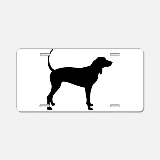Coonhound Aluminum License Plate