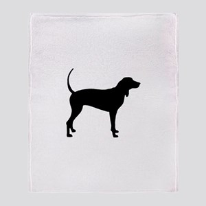 Coonhound Throw Blanket