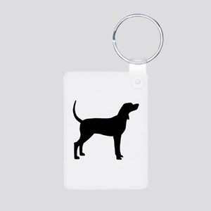 Coonhound Dog (#2) Aluminum Photo Keychain
