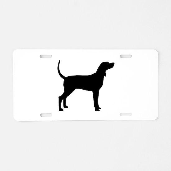 Coonhound Dog (#2) Aluminum License Plate