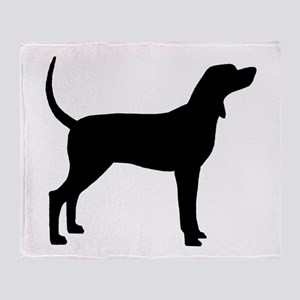 Coonhound Dog (#2) Throw Blanket