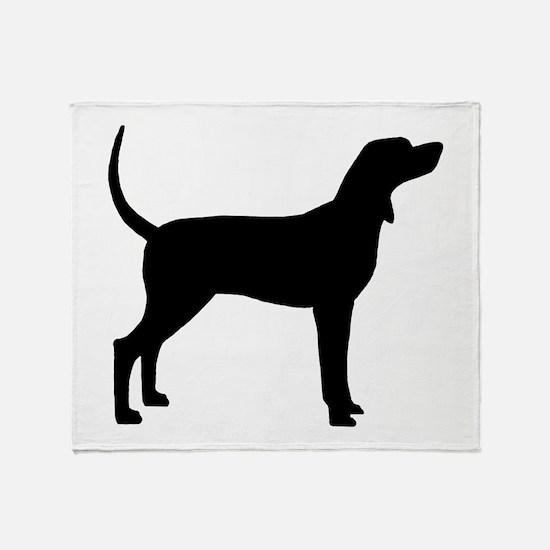 Coonhound Dog (#2) Throw Blanket