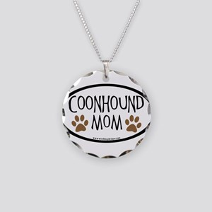 Coonhound Mom Oval Necklace Circle Charm