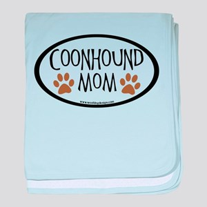 Coonhound Mom Oval baby blanket
