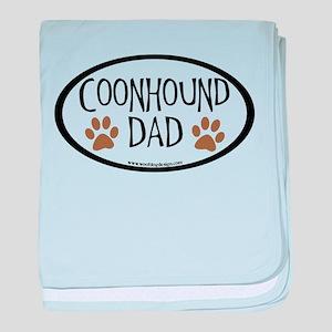Coonhound Dad Oval baby blanket