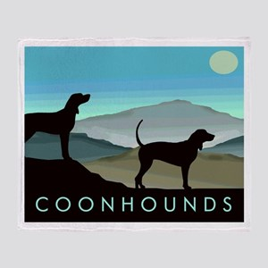 Blue Hills Coonhounds Throw Blanket