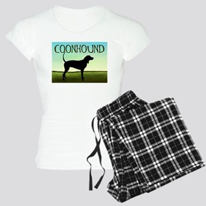 Coonhound In A Field Women's Light Pajamas