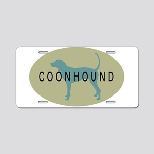 Coonhound Dog Aluminum License Plate