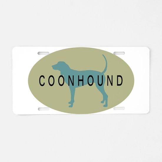 Coonhound Dog Aluminum License Plate