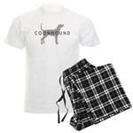 Coonhound (Grey) Dog Breed Men's Light Pajamas