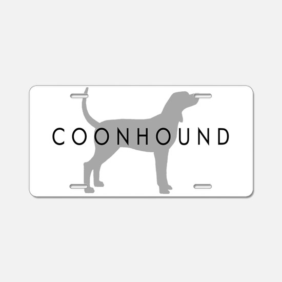 Coonhound (Grey) Dog Breed Aluminum License Plate