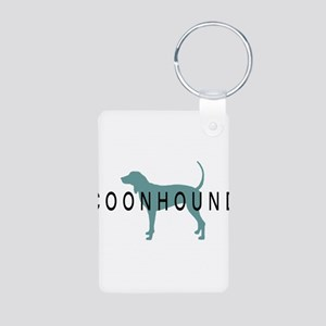 Coonhound Dogs Aluminum Photo Keychain