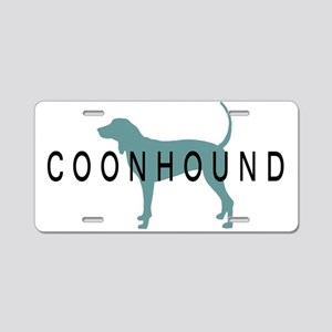 Coonhound Dogs Aluminum License Plate
