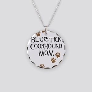 Bluetick Coonhound Mom Necklace Circle Charm