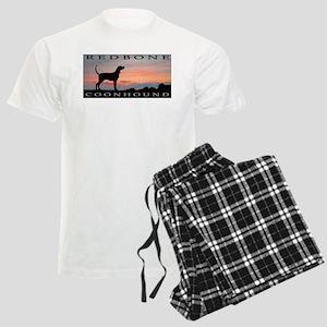Redbone Coonhound Sunset Men's Light Pajamas