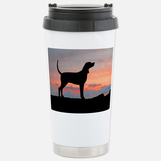 Sunset Coonhound Stainless Steel Travel Mug