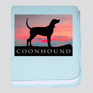 Sunset Coonhound baby blanket
