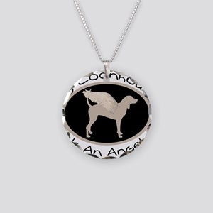 Coonhound is an Angel Necklace Circle Charm